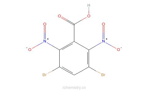 CAS:67973-19-7_3,5-二溴-2,6-二硝基苯甲酸的分子结构