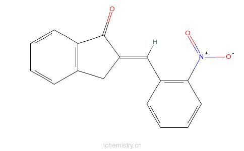 CAS:68063-18-3_2-[(2-硝基苯基)亚甲基]-2,3-二氢-1H-茚酮的分子结构