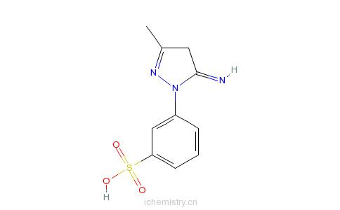 CAS:68083-38-5_3-(4,5-二氢-5-亚氨基-3-甲基-1H-吡唑-1-基)苯磺酸的分子结构