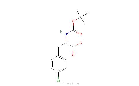 CAS:68090-88-0_BOC-L-4-氯苯丙氨酸的分子结构