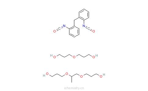 CAS:68092-58-0_二苯甲烷二异氰酸酯和聚醚多元醇的聚氨基甲酸乙酯的预聚体的分子结构