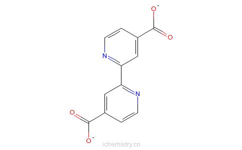 CAS:6813-38-3_2,2'-联吡啶-4,4'-二甲酸的分子结构