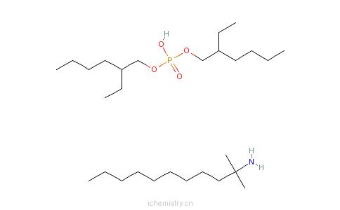 CAS:68155-99-7_磷酸双(2-乙基己基)酯与叔十二烷基胺的化合物的分子结构