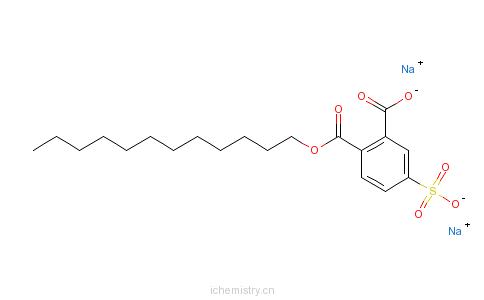 CAS:68189-35-5_4-磺基邻苯二甲酸十二烷基酯二钠的分子结构