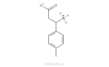 CAS:68208-18-4_3-氨基-3-(4-甲基苯基)丙酸的分子结构