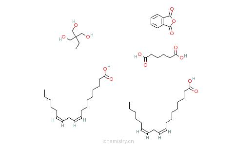 CAS:68227-93-0_己二酸与2-乙基-2-(羟甲基)-1,3-丙二醇、1,3-异苯并呋喃二酮和(Z,Z)-9,12-十八碳二烯酸二聚物的聚合物的分子结构