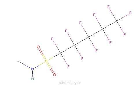 CAS:68298-13-5_N-甲基-1,1,2,2,3,3,4,4,5,5,5-十一氟代-1-戊烷磺酰胺的分子结构