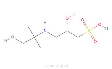 CAS:68399-79-1_3-[(1,1-二甲基-2-羟乙基)氨基]-2-羟基-1-丙磺酸的分子结构