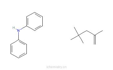 CAS:68411-46-1_N-苯基苯胺与2,4,4-三甲基戊烯的反应产物的分子结构