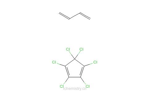 CAS:68441-65-6_1,2,3,4,5,5-六氯-1,3-环戊二烯、1,3-丁二烯均聚物的加成产物的分子结构