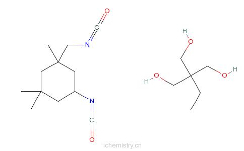 CAS:68479-05-0_2-乙基-2-羟甲基-1,3-丙二醇与5-异氰酸根-1-(甲基异氰酸根)-1,3,3-三甲基环己烷的反应产物的分子结构