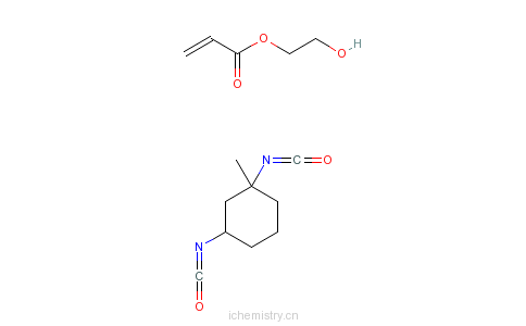 CAS:68479-07-2_2-丙烯酸-2-羟基乙酯与1,3-二异氰酸根合甲苯的反应产物的分子结构