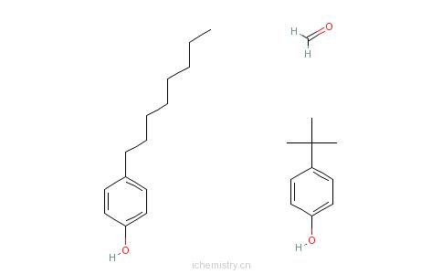 CAS:68480-36-4_甲醛与4-(1,1-二甲基乙基)苯酚和4-辛基苯酚的聚合物的分子结构