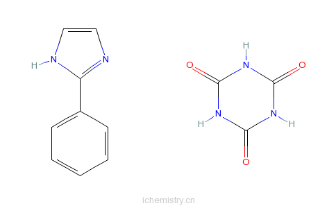 CAS:68490-63-1_[2-苯基咪唑与1,3,5-三嗪-2,4,6-(1H,3H,5H)-三酮]的化合物的分子结构