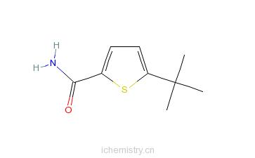 CAS:685120-65-4_5-叔丁基噻吩-2-甲酰胺的分子结构