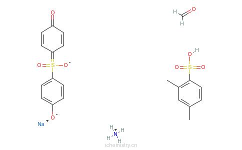 CAS:68516-87-0_2,4-二甲基苯磺酸、甲醛、4,4'-磺酰双酚的聚合物铵钠盐的分子结构