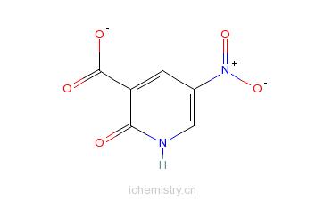 CAS:6854-07-5_2-羟基-5-硝基烟酸的分子结构