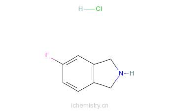 CAS:685565-15-5_5-氟异吲哚林盐酸盐的分子结构