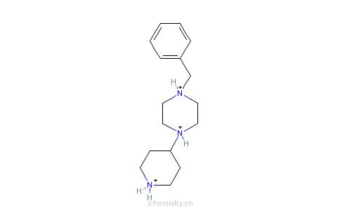 CAS:686298-00-0_4-(1-苄基哌嗪-4-基)哌啶盐酸盐的分子结构