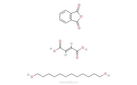 CAS:68784-89-4_(E)-2-丁烯二酸与1,3-异苯并呋喃二酮和三环癸二甲醇的聚合物的分子结构