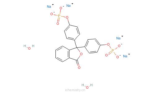 CAS:68807-90-9_酚酞二磷酸四钠的分子结构