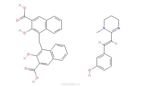 CAS:68813-55-8_酚嘧啶 扑蛲灵的分子结构