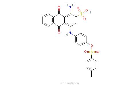 CAS:68834-02-6_1-氨基-4-[[4-[[(4-甲苯基)磺酰]氧]苯基]氨基]-9,10-二氢化-9,10-二氧代-2-蒽磺酸的分子结构