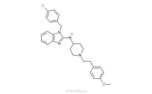 CAS:68844-77-9_阿司咪唑的分子结构