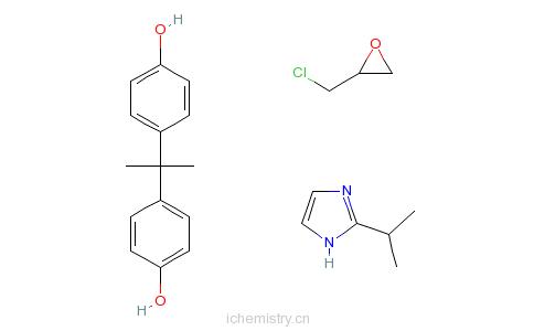 CAS:68954-74-5_2-(1-甲基乙基)-1-氢-咪唑改性的双酚A与环氧氯丙烷的聚合物的分子结构
