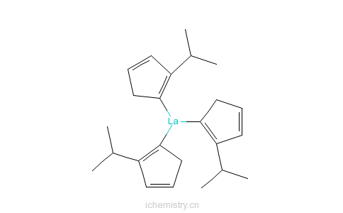 CAS:68959-87-5_三(异丙基环戊二烯)化镧(III)的分子结构