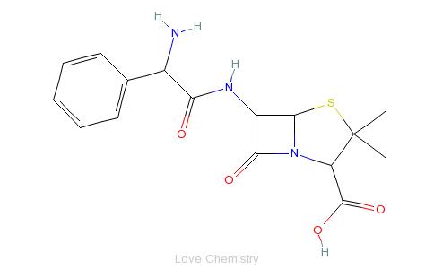 CAS:69-53-4_氨苄西林的分子结构
