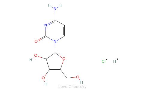 CAS:69-74-9_盐酸阿糖胞苷的分子结构