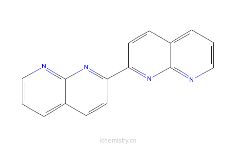CAS:69110-33-4_2,2'-联(1,8-萘啶)的分子结构