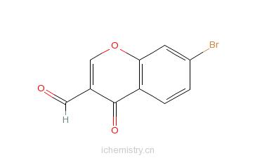 CAS:69155-80-2_7-溴-4-氧代-4H-苯并吡喃-3-甲醛的分子结构