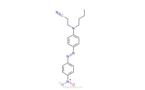 CAS:69472-19-1_3-[丁基[4-[(4-硝基苯基)偶氮]苯基]氨基]丙腈的分子结构
