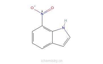 CAS:6960-42-5_7-硝基吲哚的分子结构