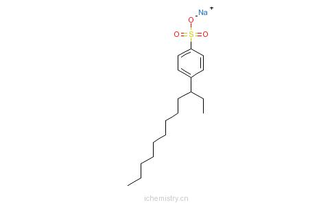 CAS:69669-44-9_C10-14-烷基苯磺酸衍生物钠盐的分子结构