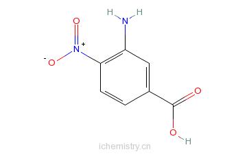 CAS:6968-22-5_3-氨基-4-硝基苯甲酸的分子结构