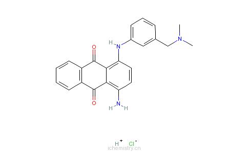 CAS:69695-75-6_1-氨基-4-[[3-[(二甲基氨基)甲基]苯基]氨基]-9,10-蒽二酮单盐酸盐的分子结构