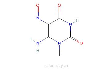 CAS:6972-78-7_6-氨基-1-甲基-5-异亚硝基尿嘧啶的分子结构
