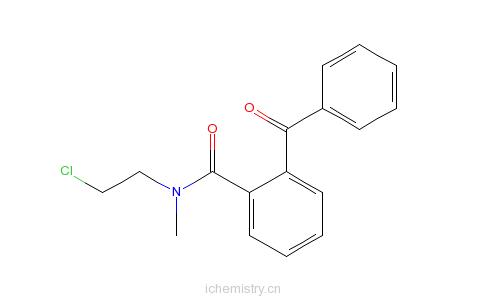 CAS:69984-25-4_邻苯甲酰基-N-(2-氯乙基)-N-甲基苯甲酰胺的分子结构