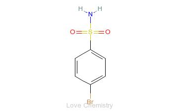 CAS:701-34-8_4-溴苯磺酰胺的分子结构