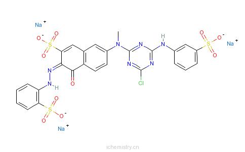 CAS:70210-21-8_C.I.活性橙5的分子结构
