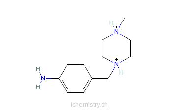 CAS:70261-82-4_4-(4-甲基哌嗪-1-基甲基)苯胺的分子结构