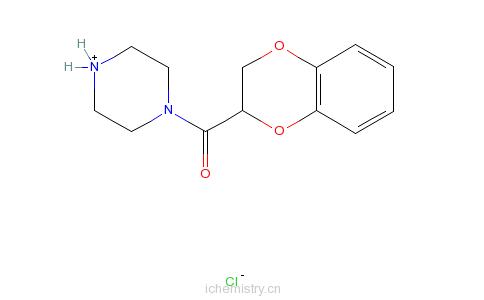 CAS:70918-74-0_N-[(1,4-苯并二�f烷-2-基)羰基]哌嗪盐酸盐的分子结构
