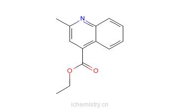 CAS:7120-26-5_2-甲基喹啉-4-甲酸乙酯的分子结构