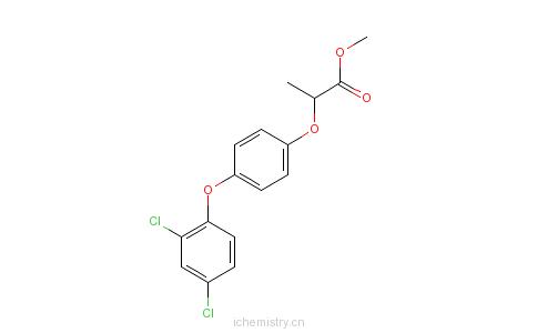 CAS:71283-65-3_(2R)-2-[4-(2,4-二氯苯氧基)苯氧基]丙酸甲酯的分子结构