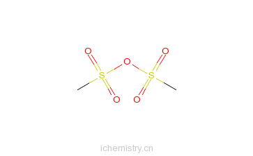 CAS:7143-01-3_甲基磺酸酐的分子结构