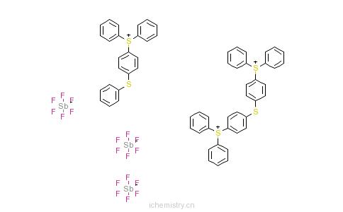 CAS:71449-78-0_二苯基-(4-苯基硫)苯基锍六氟锑酸盐的分子结构