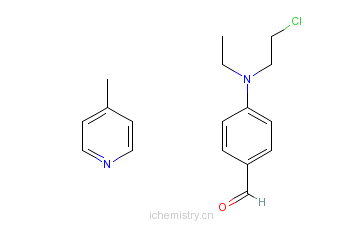 CAS:71566-74-0_4-[(2-氯乙基)乙氨基]苯甲醛与4-甲基吡啶的聚合物的分子结构